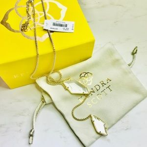 Kendra Scott Lilith Y-Necklace in Mother of Pearl